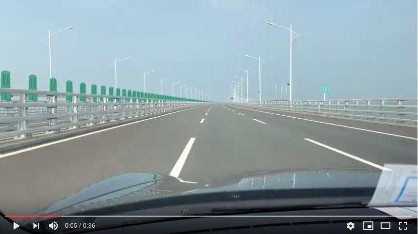 """超爽:在""""港珠澳大桥""""上飙车的感觉_图1-5"""