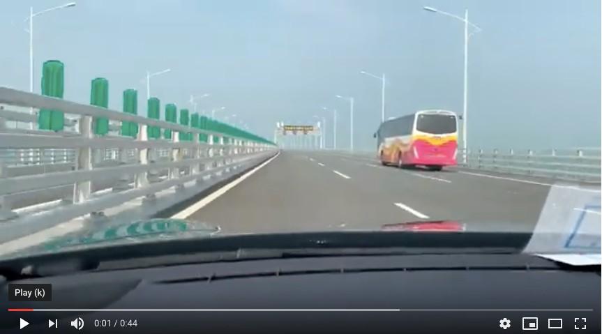 """超爽:在""""港珠澳大桥""""上飙车的感觉_图1-6"""