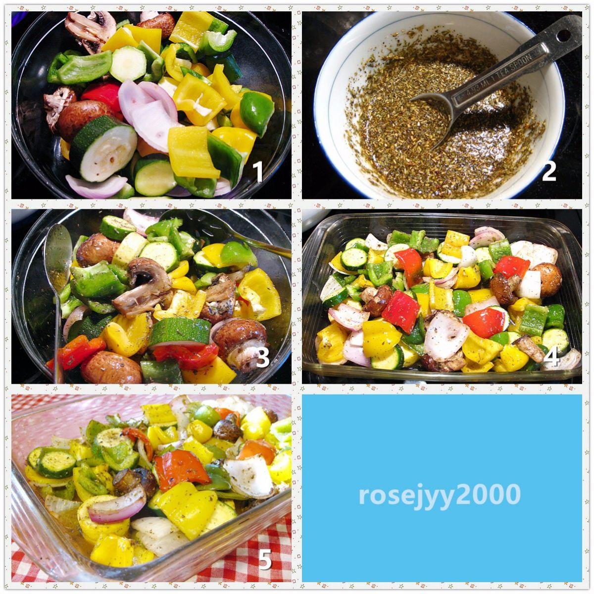 香草黑椒烤蔬菜_图1-2