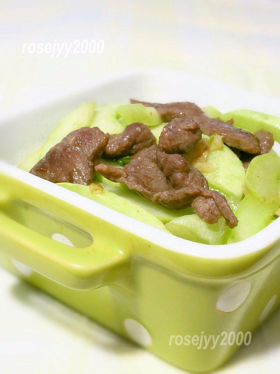 牛肉炒白瓜_图1-3