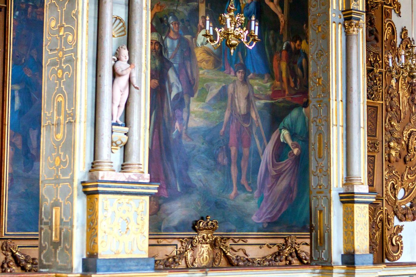 丹麦腓特烈堡城堡,金碧辉煌的大厅_图1-38