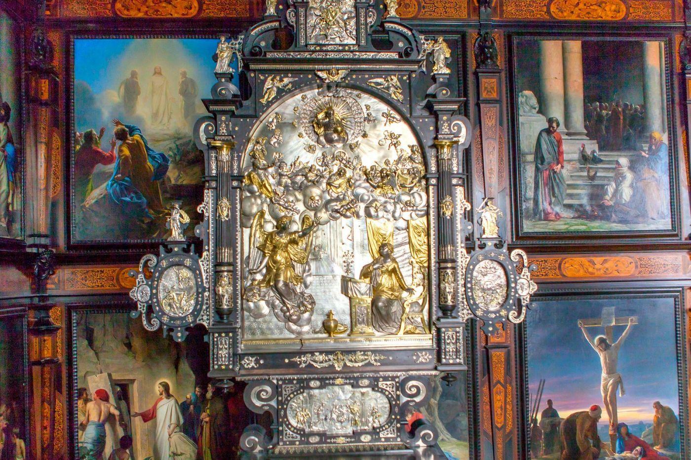 丹麦腓特烈堡城堡,金碧辉煌的大厅_图1-39