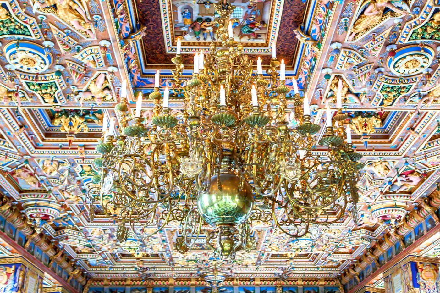 丹麦腓特烈堡城堡,金碧辉煌的大厅_图1-29
