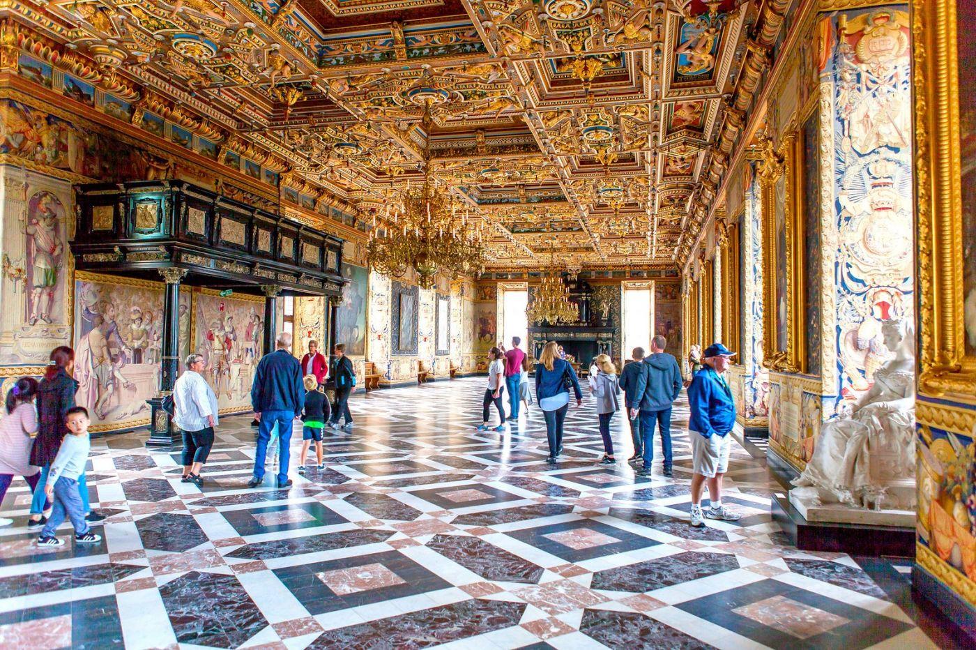 丹麦腓特烈堡城堡,金碧辉煌的大厅_图1-27