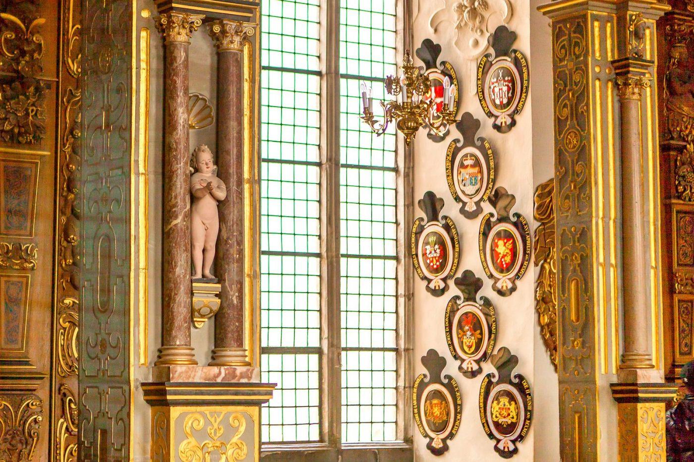 丹麦腓特烈堡城堡,金碧辉煌的大厅_图1-18