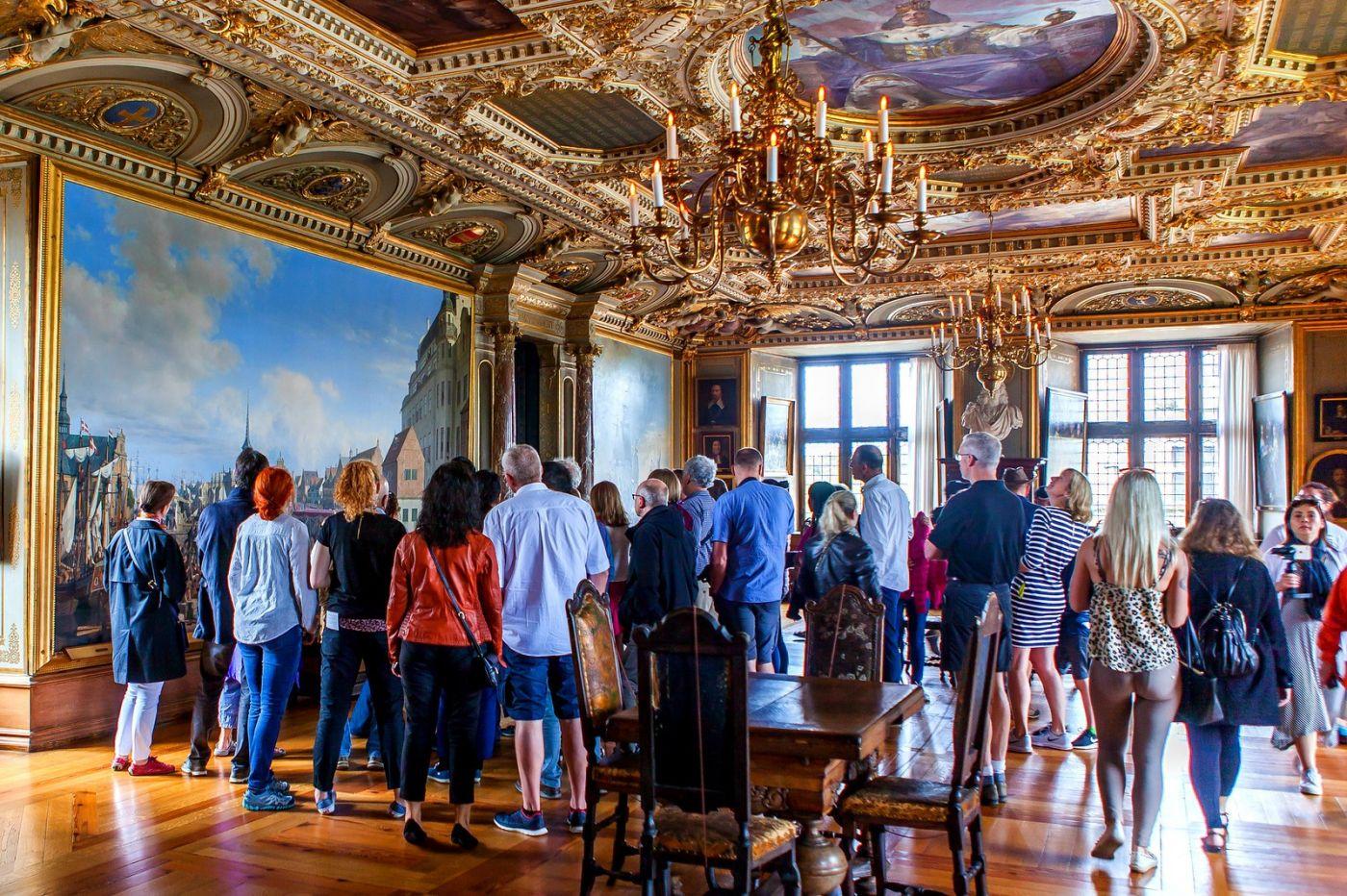 丹麦腓特烈堡城堡,金碧辉煌的大厅_图1-14