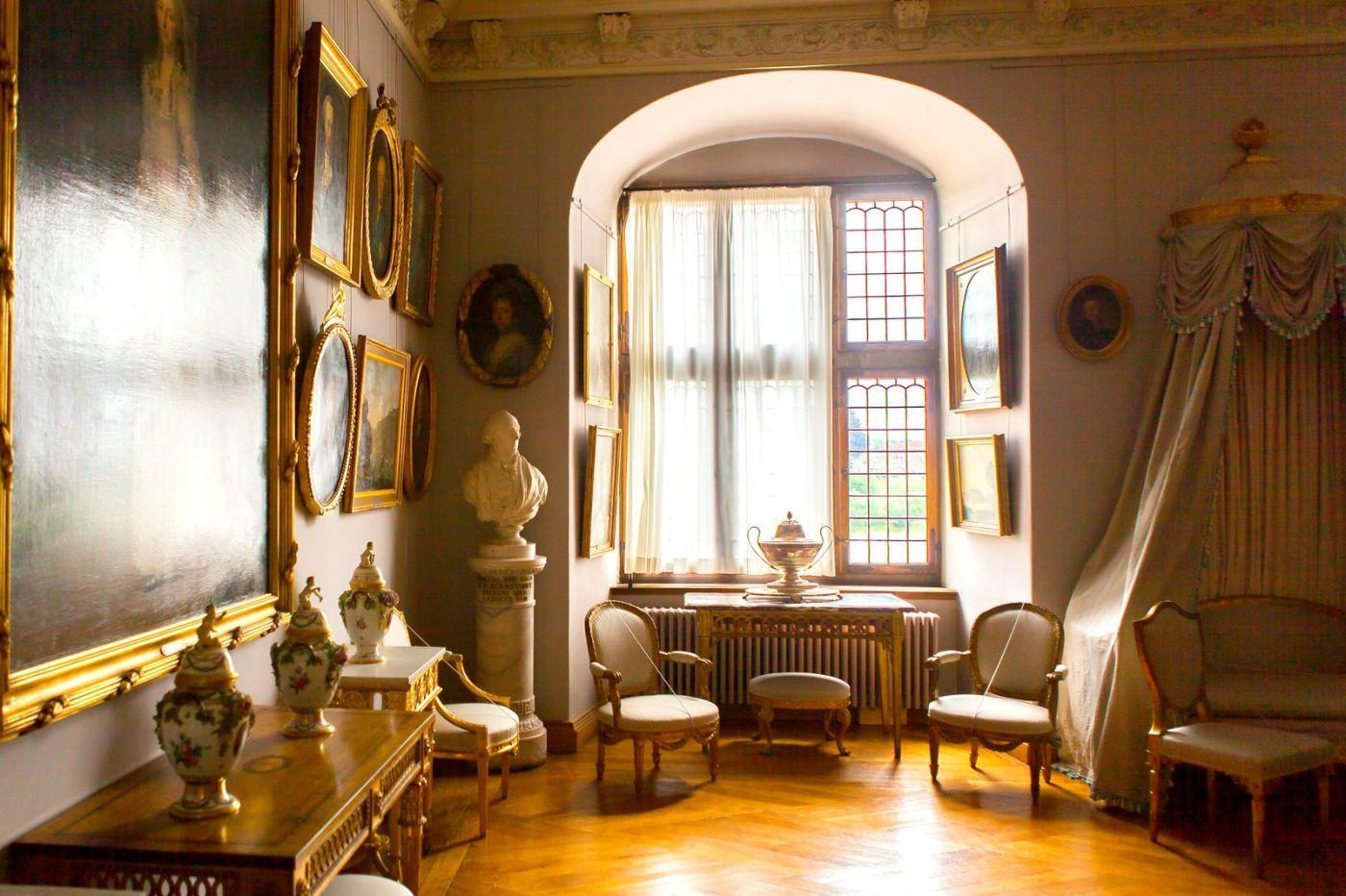 丹麦腓特烈堡城堡,金碧辉煌的大厅_图1-9
