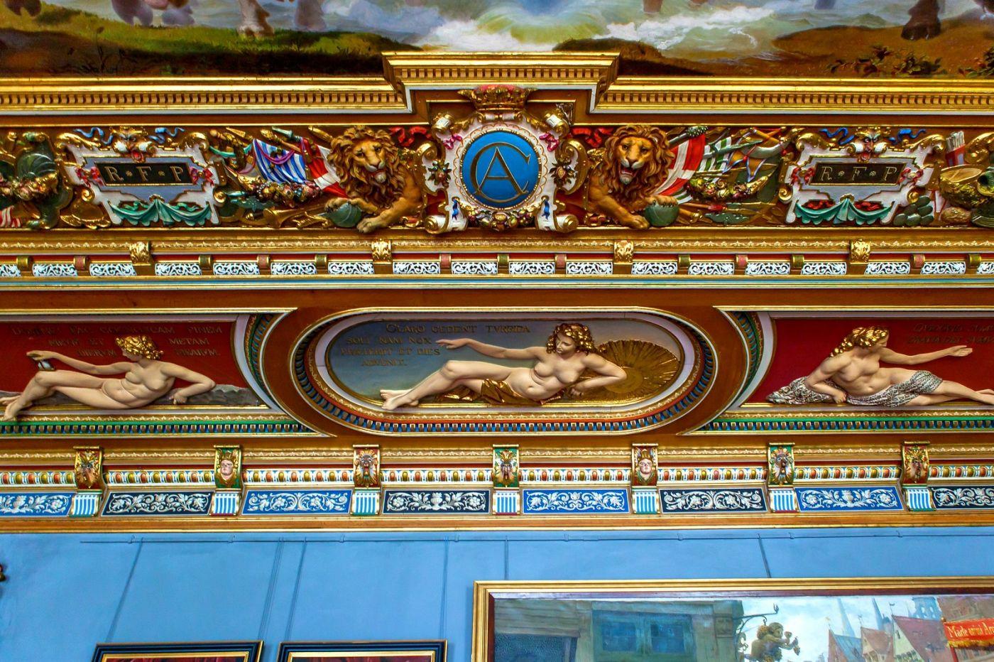 丹麦腓特烈堡城堡,金碧辉煌的大厅_图1-11