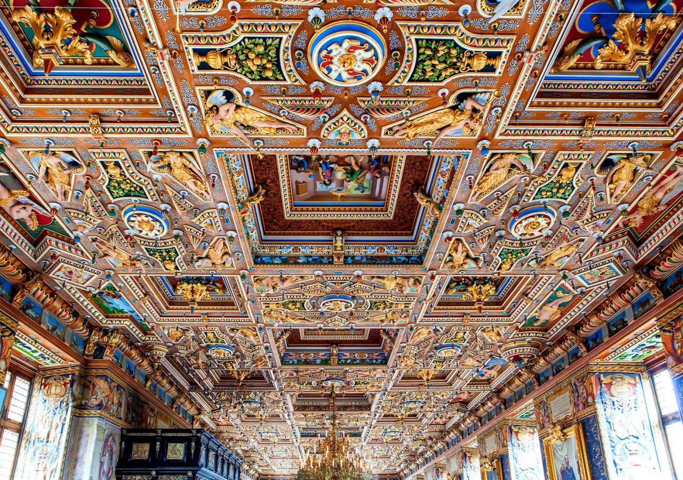 丹麦腓特烈堡城堡,金碧辉煌的大厅_图1-12