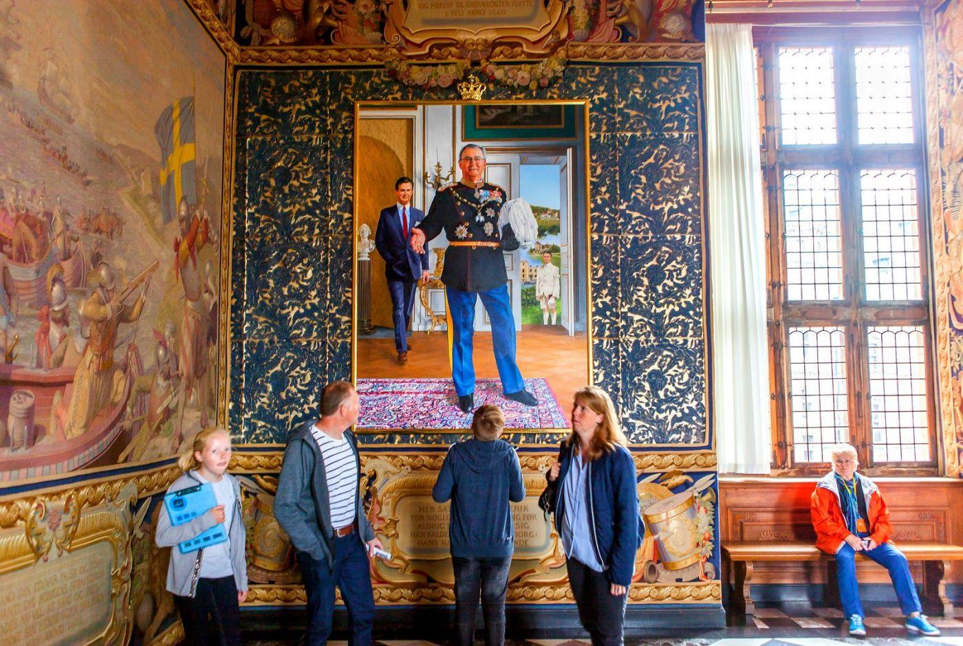 丹麦腓特烈堡城堡,金碧辉煌的大厅_图1-6