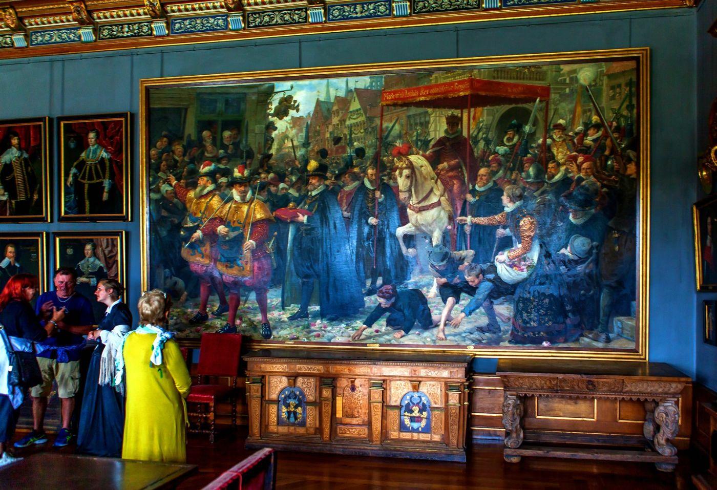 丹麦腓特烈堡城堡,金碧辉煌的大厅_图1-5