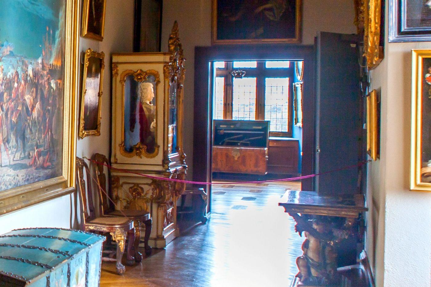 丹麦腓特烈堡城堡,金碧辉煌的大厅_图1-4