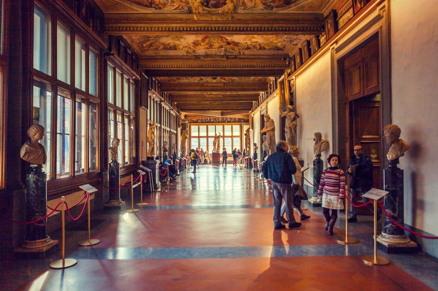 意大利佛罗伦斯乌菲兹美术馆, 进去看一看_图1-3