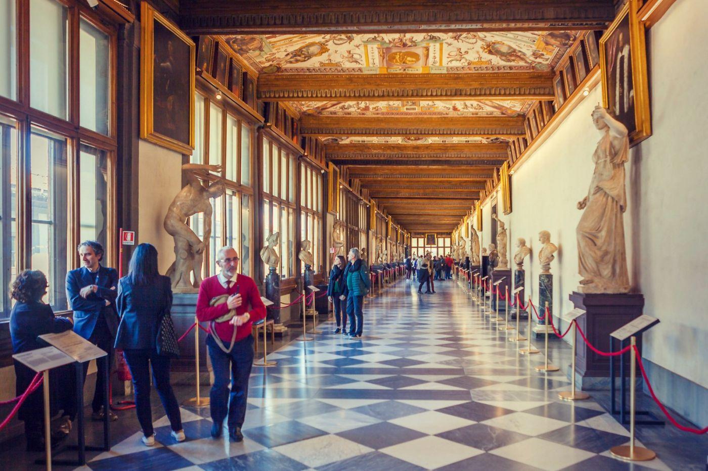 意大利佛罗伦斯乌菲兹美术馆, 进去看一看_图1-1