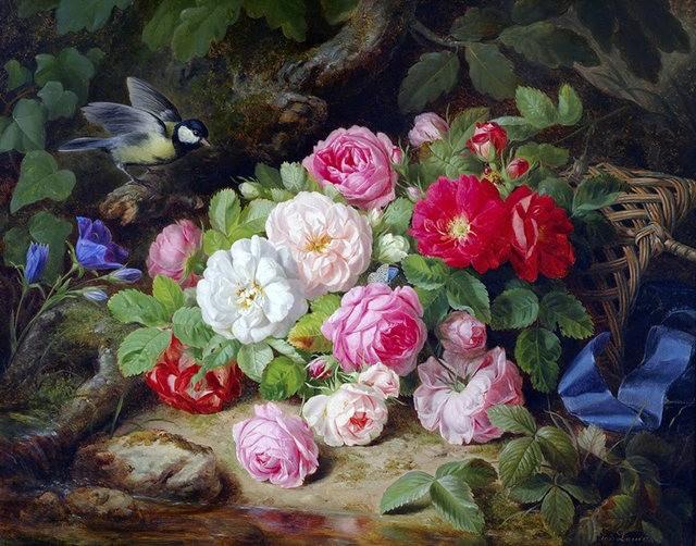 奧地利畫家Josef Lauer的花與水果作品_圖1-8