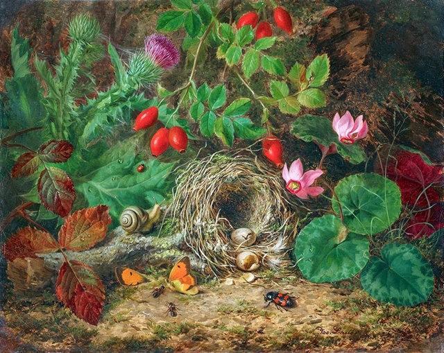 奧地利畫家Josef Lauer的花與水果作品_圖1-11