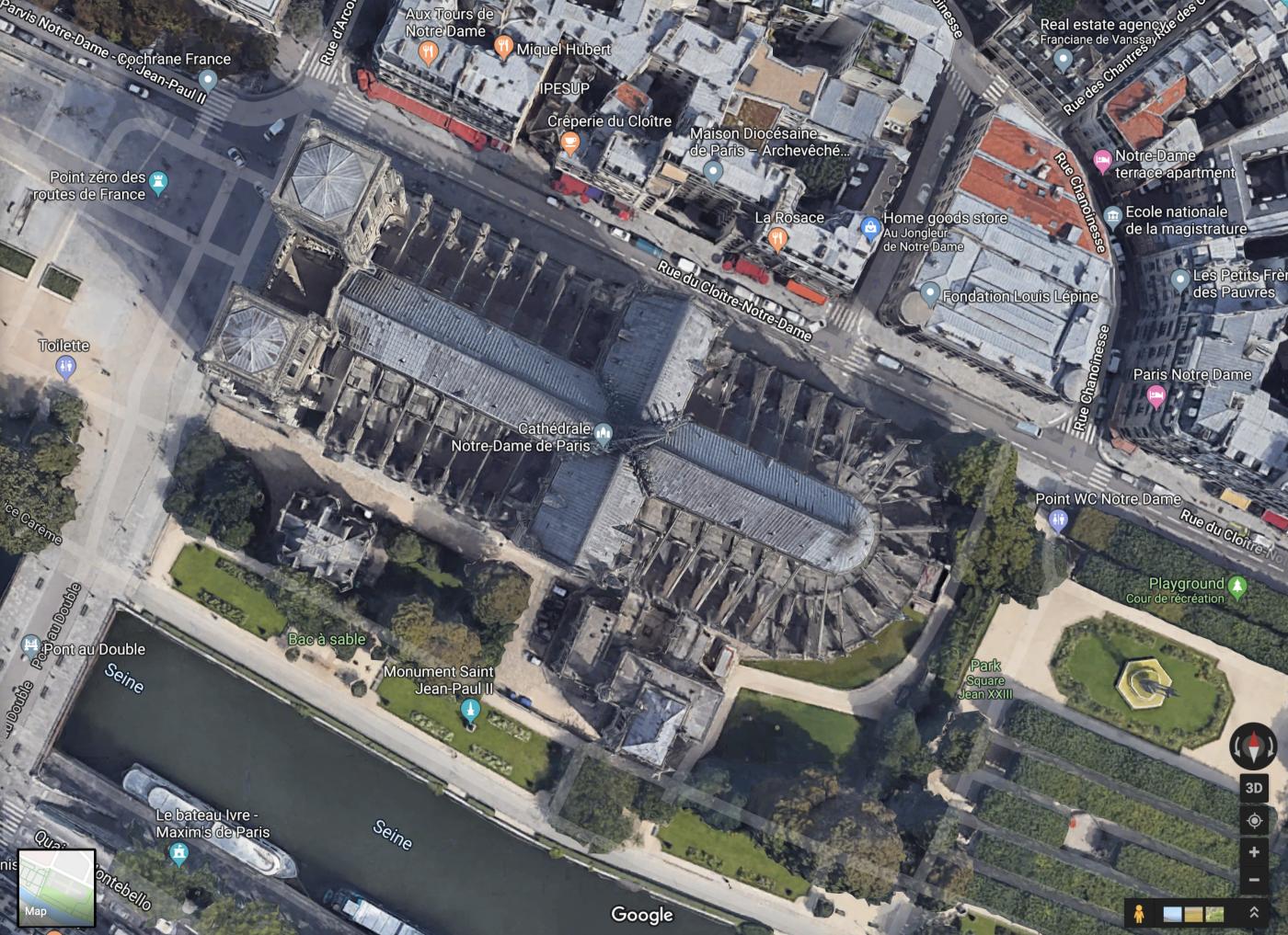 """惨不忍睹:大火后的""""巴黎圣母院""""_图1-1"""