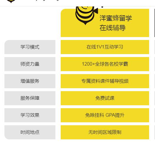 【洋蜜蜂留学 online 补习】常青藤学霸tutor在线课程一对一辅导 ..._图1-3
