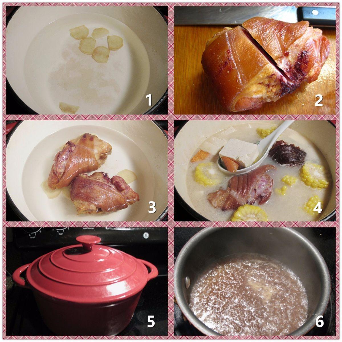 咸猪手豆腐玉米汤_图1-2