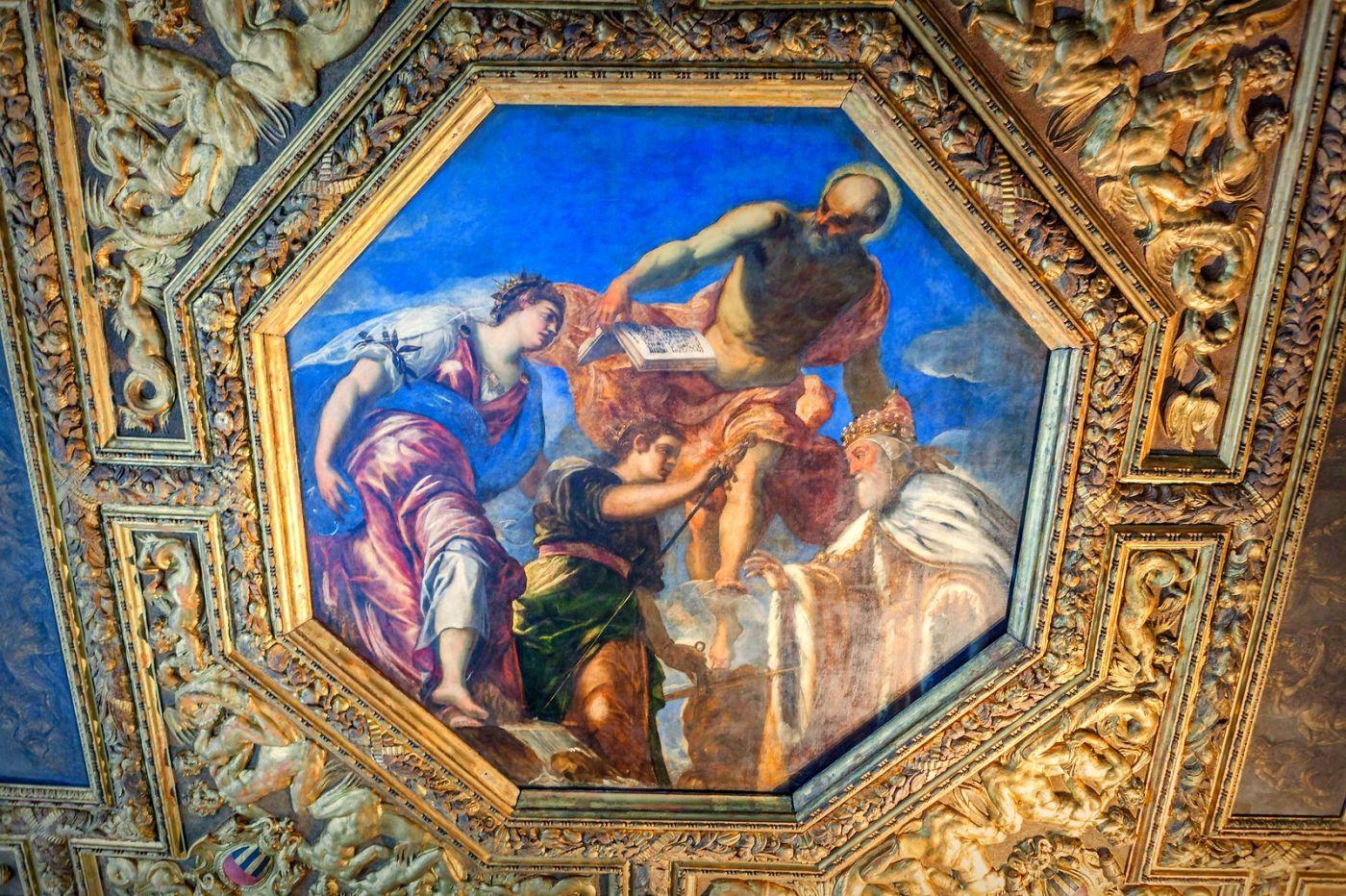 威尼斯圣马可大教堂(St Mark's Basilica), 精雕细琢的顶设_图1-15