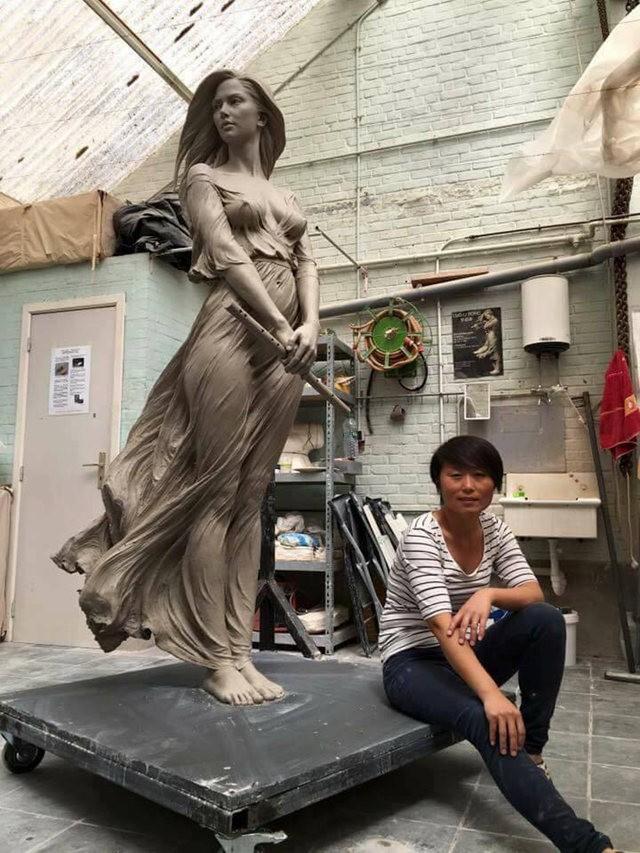 罗丽蓉精彩的雕塑作品_图1-2