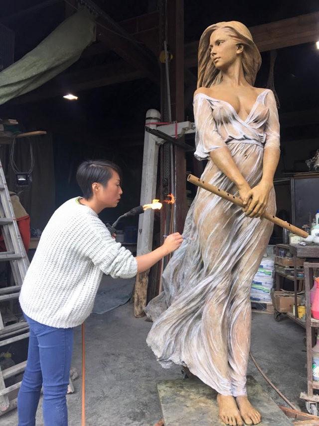 罗丽蓉精彩的雕塑作品_图1-10