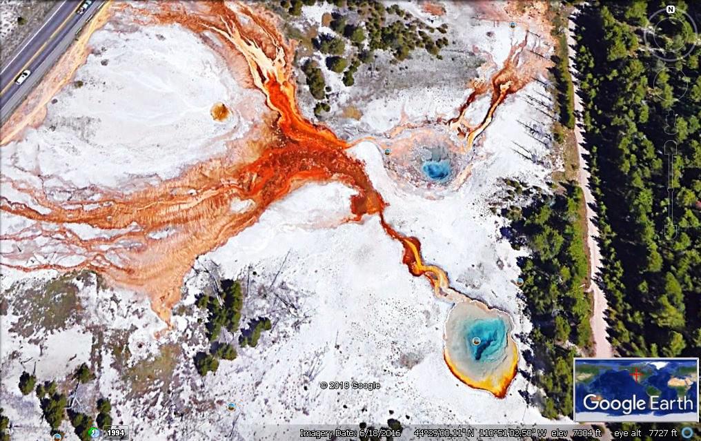 从卫星上观看黄石公园之大棱镜与牵牛花池_图1-8