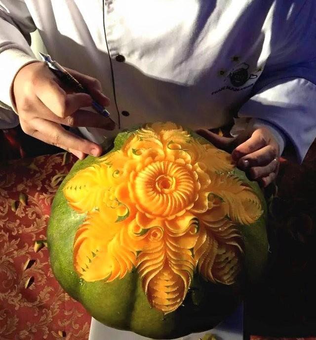 水果雕刻大师Daniele Barresi_图1-2