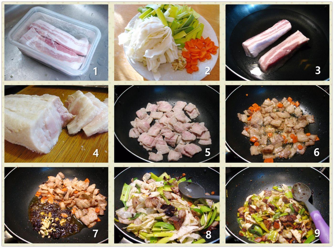 大蒜包菜回锅肉_图1-2