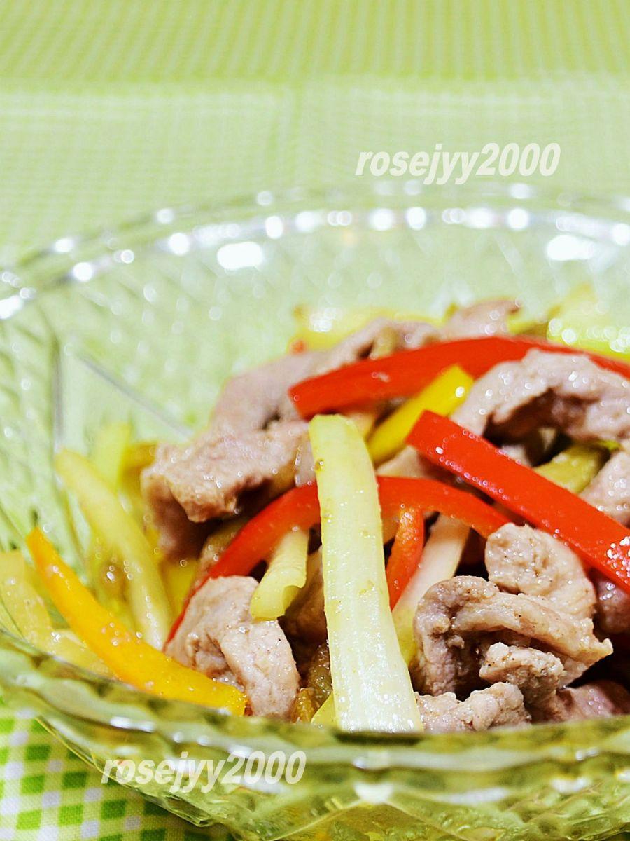 西芹榨菜炒肉丝_图1-3