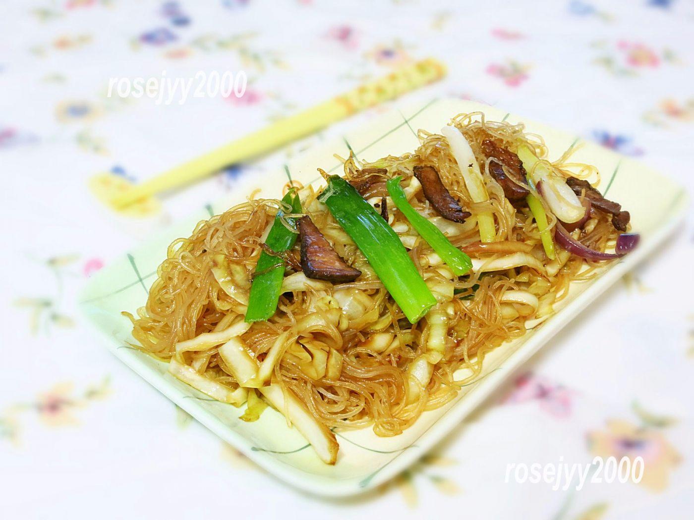 叉烧椰菜炒细粉_图1-1