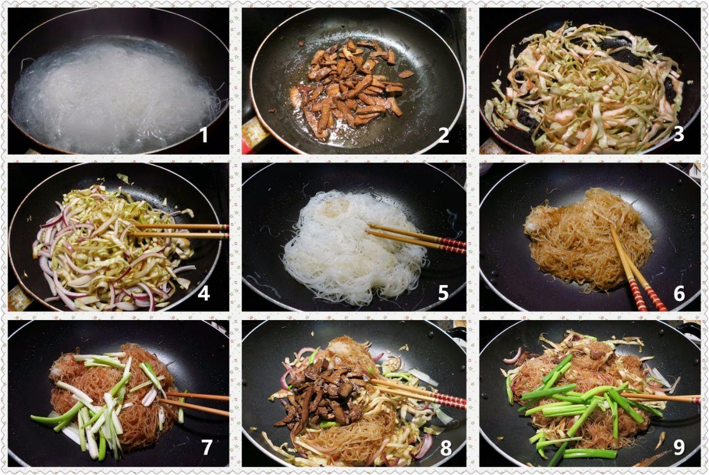 叉烧椰菜炒细粉_图1-2