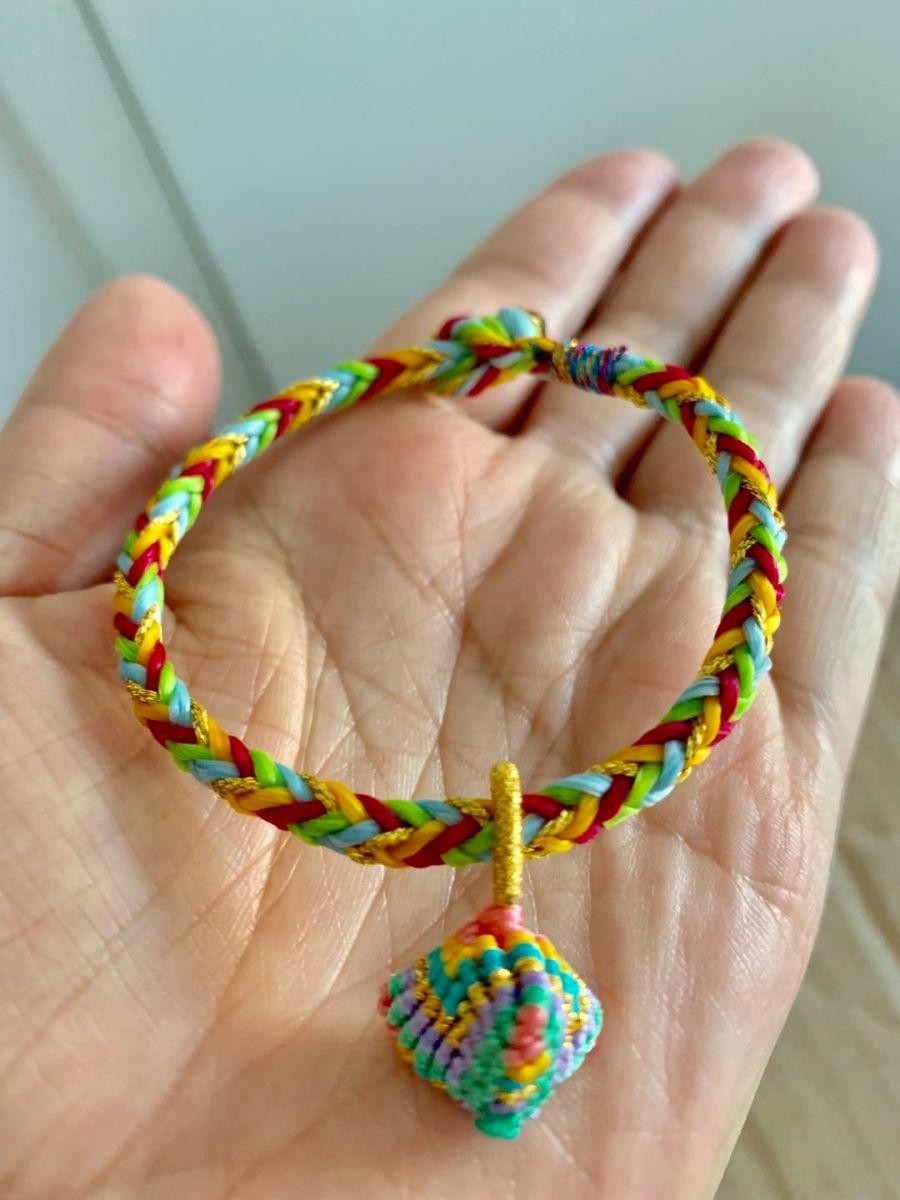 端午节,做个十全十美手绳祈福,祝我的朋友们健康平安快乐! ... ..._图1-2