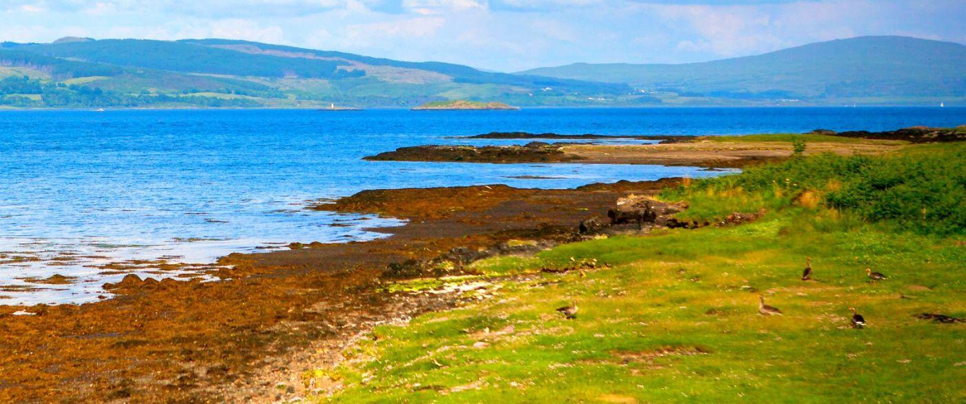 苏格兰美景,月牙般的海湾_图1-9