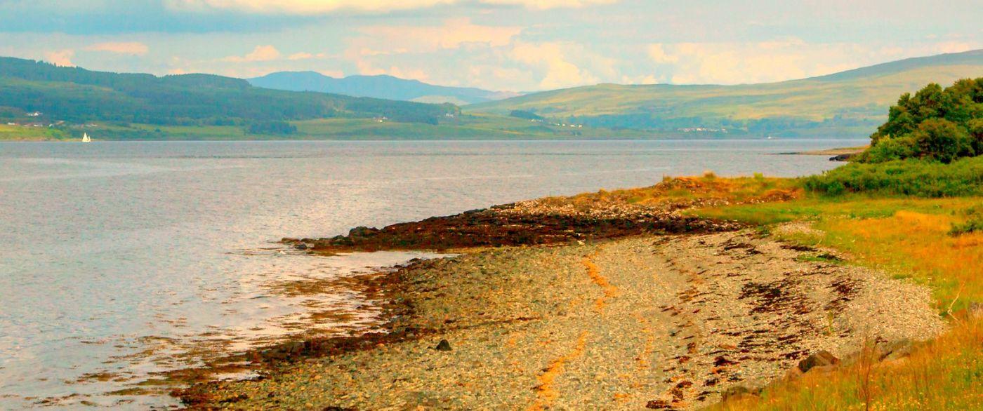 苏格兰美景,月牙般的海湾_图1-17