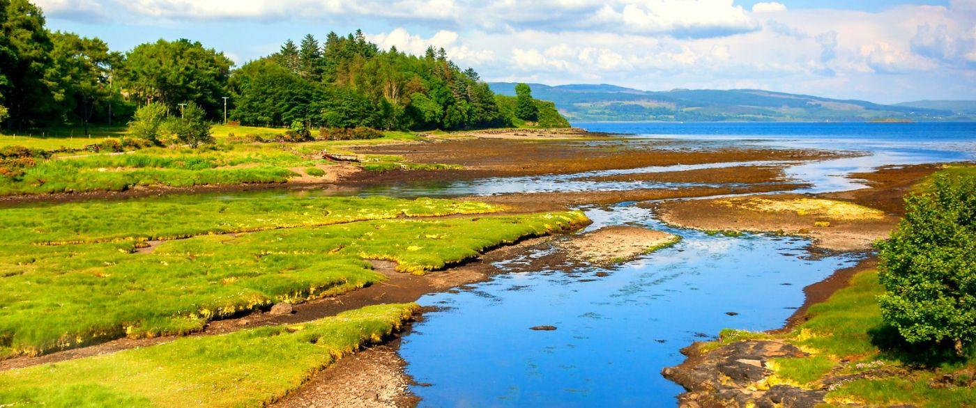 苏格兰美景,月牙般的海湾_图1-24