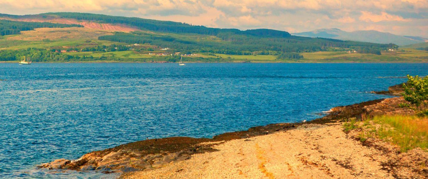 苏格兰美景,月牙般的海湾_图1-34