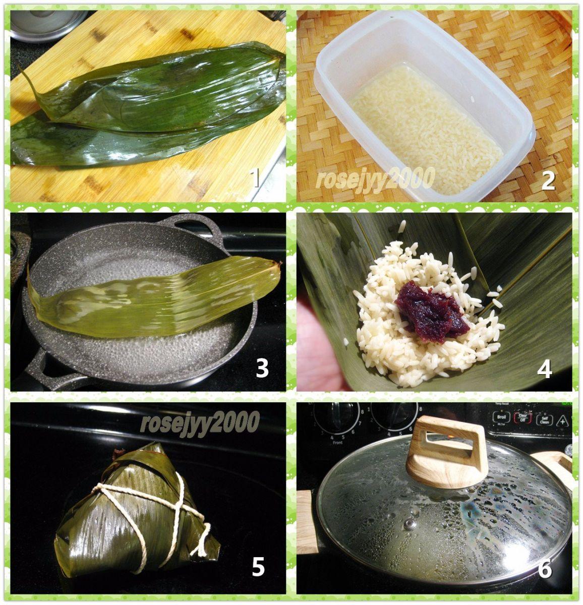 豆沙枧水粽_图1-2