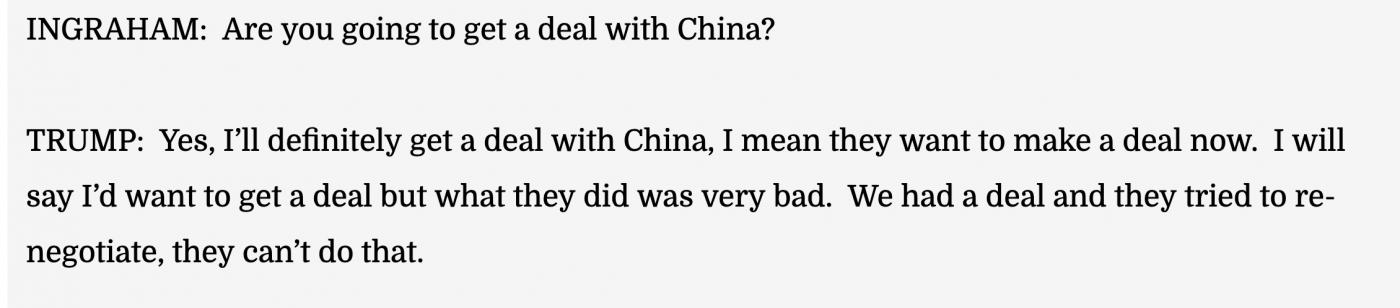 特朗普仍坚信一定能和中国达成协议_图1-2