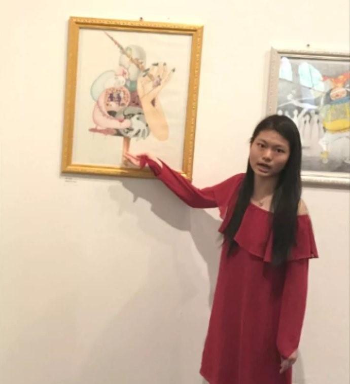 高娓娓:美中文化周青少年插画艺术展开幕_图1-4