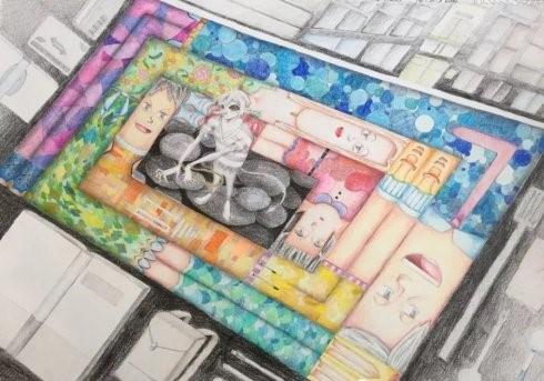 高娓娓:美中文化周青少年插画艺术展开幕_图1-7