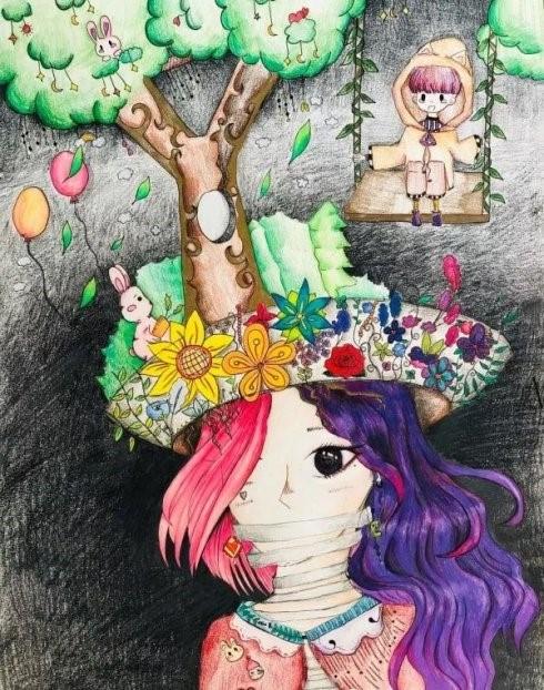 高娓娓:美中文化周青少年插画艺术展开幕_图1-8