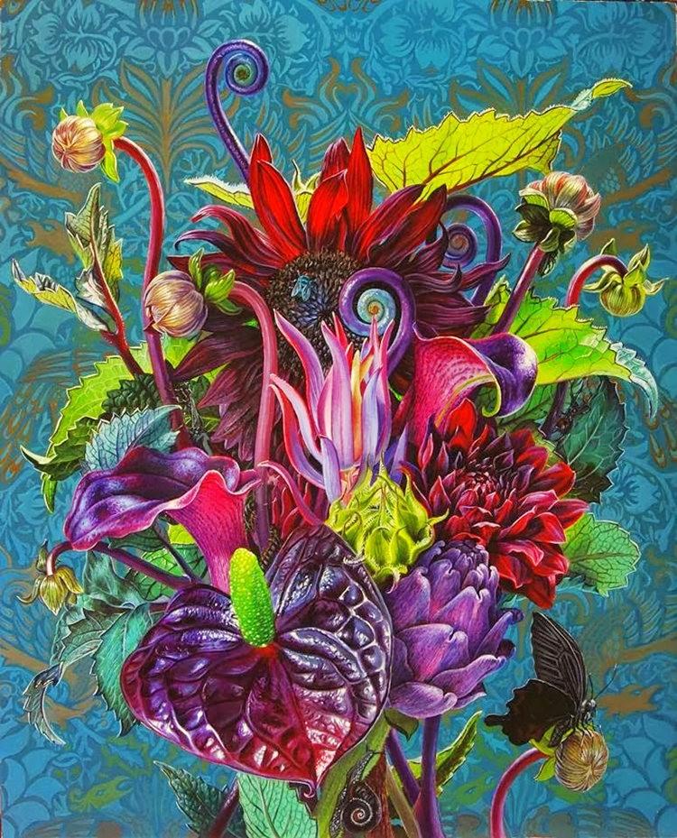 超现实的花卉植物画作_图1-3