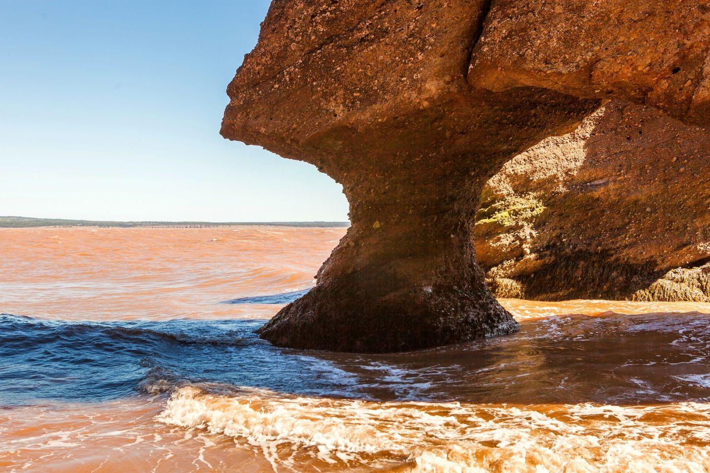 加拿大Hopewell岩石,潮起潮落显英姿_图1-4