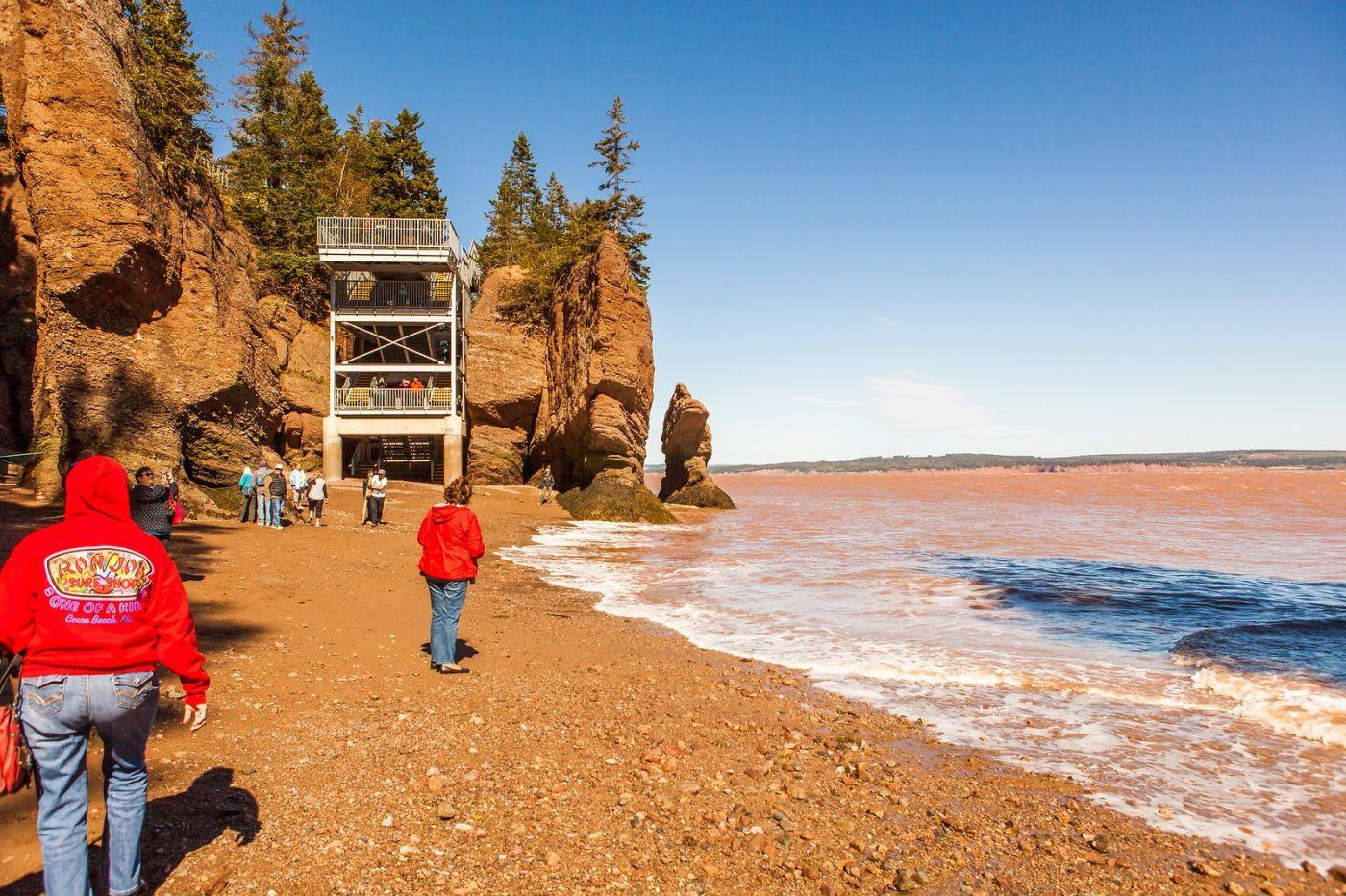 加拿大Hopewell岩石,潮起潮落显英姿_图1-7