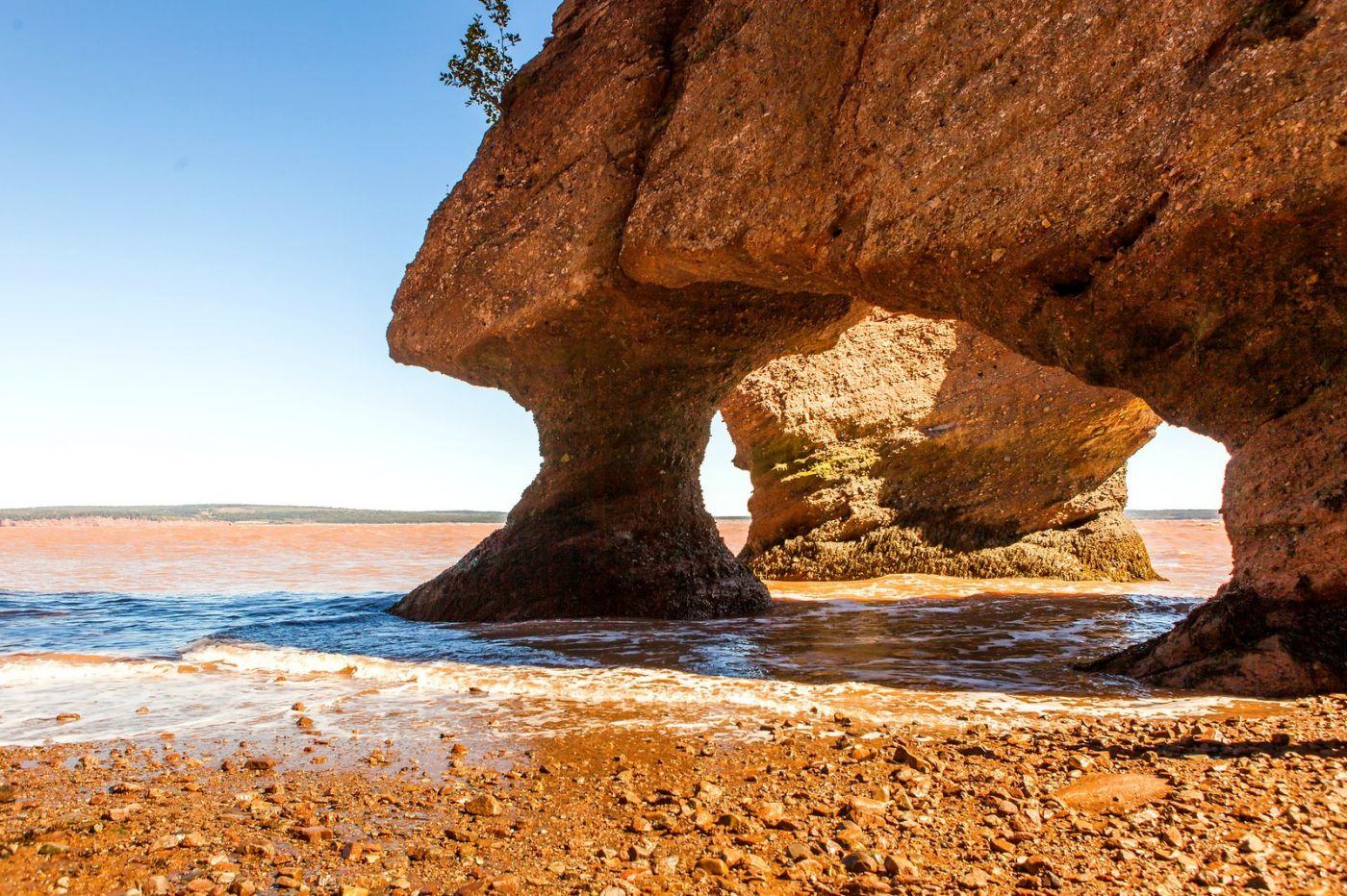加拿大Hopewell岩石,潮起潮落显英姿_图1-13