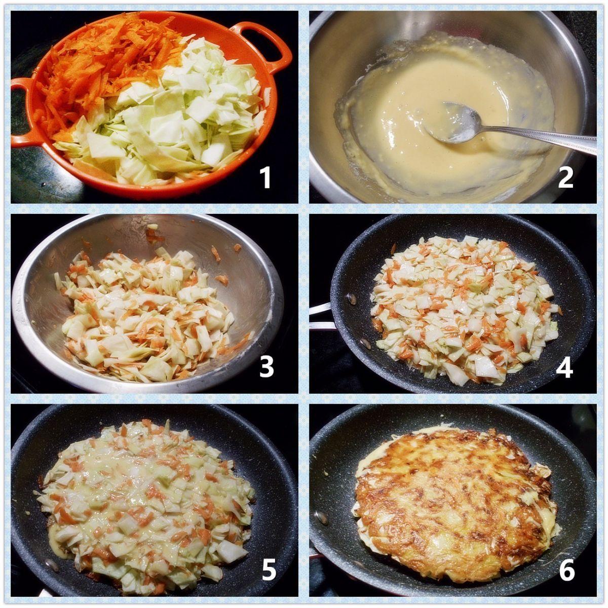 椰菜蛋饼_图1-2