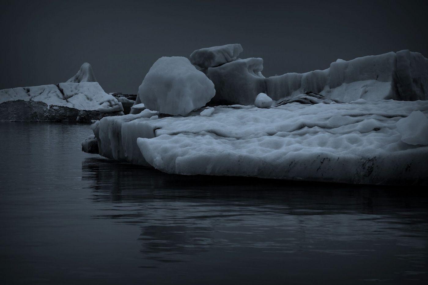 冰岛冰川泻湖(Glacier Lagoon), 湖面上冰川_图1-9