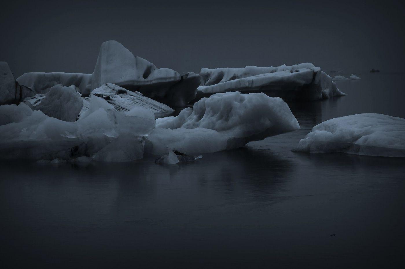 冰岛冰川泻湖(Glacier Lagoon), 湖面上冰川_图1-10