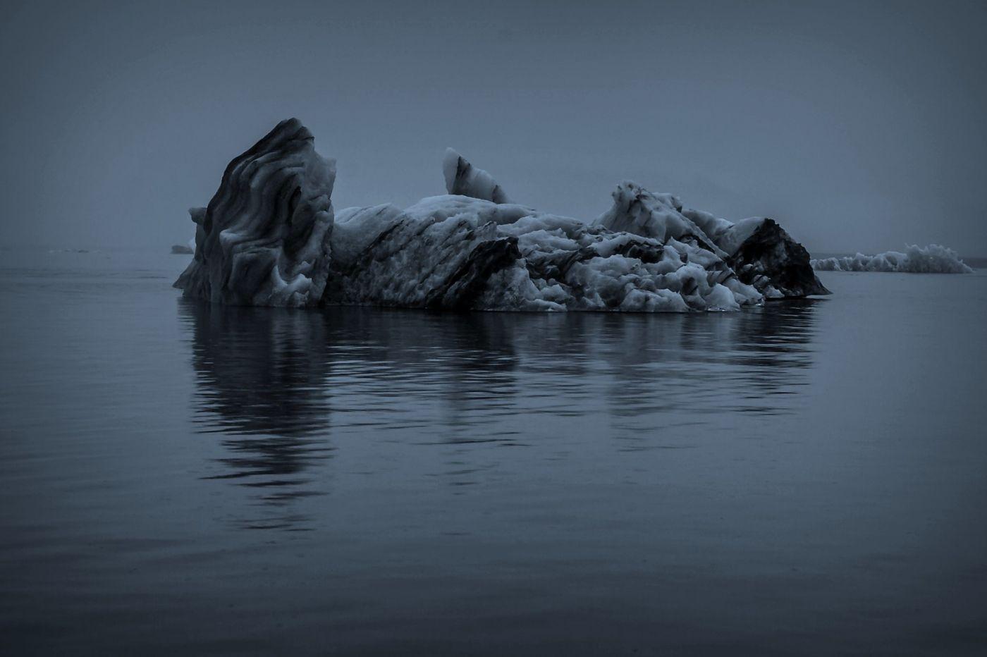 冰岛冰川泻湖(Glacier Lagoon), 湖面上冰川_图1-8